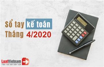 Sổ tay kế toán tháng 4/2020