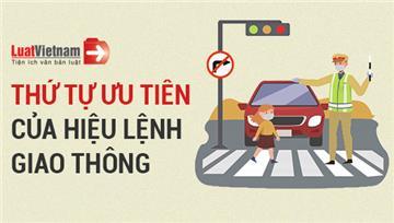 Infographic: Thứ tự ưu tiên của hiệu lệnh giao thông