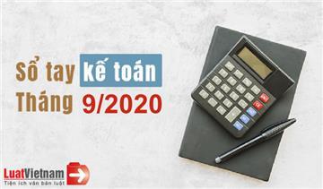 Sổ tay kế toán tháng 9/2020