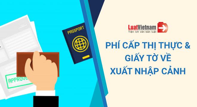 phí cấp thị thực