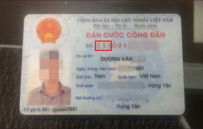 mã tỉnh nơi công dân đăng ký khai sinh