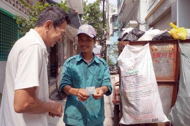 thu phí rác sinh hoạt theo cân nặng