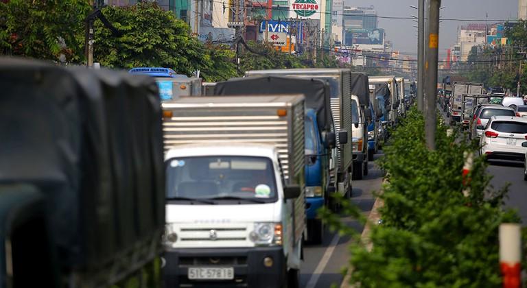 Xe tải bao nhiêu tấn được vào thành phỐ?