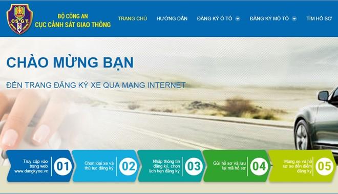 Từ 01/8/2020, có thể đăng ký xe qua mạng