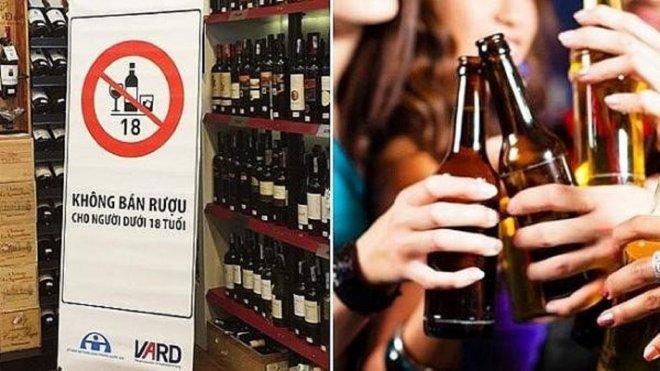mức phạt khi bán bia cho người dưới 18 tuổi