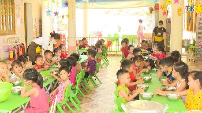 thêm nhiều trẻ mầm non được hỗ trợ tiền ăn trưa