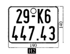 Phân biệt biến số xe thật và biển số xe giả 7