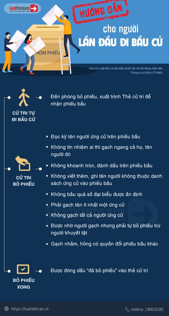 hướng dẫn bỏ phiếu cho người lần đầu đi bầu cử