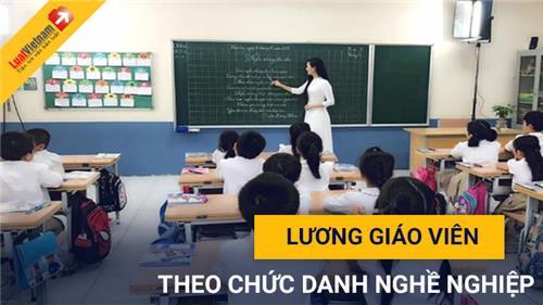 Xếp lương giáo viên các cấp theo chức danh nghề nghiệp