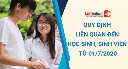 Từ 01/7/2020, 4 quy định mới tác động lớn đến học sinh, sinh viên