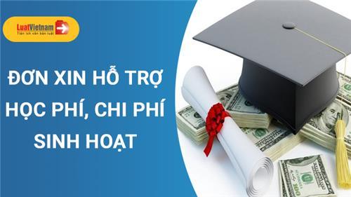 Mẫu Đơn xin hỗ trợ tiền học phí cho sinh viên sư phạm