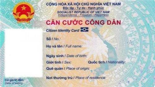 Thẻ CCCD gắn chip sử dụng song ngữ tiếng Việt/tiếng Anh