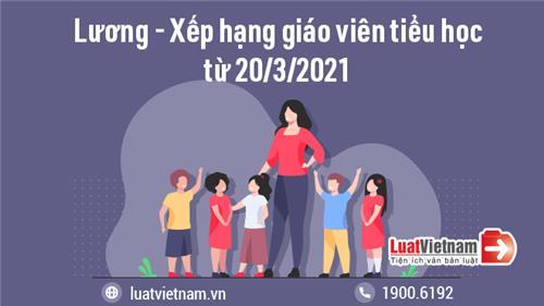 Thay đổi về lương và tiêu chuẩn xếp hạng giáo viên tiểu học từ 20/3/2021