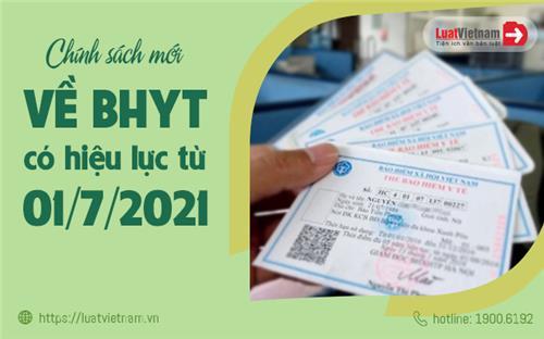 5 chính sách mới về bảo hiểm y tế, có hiệu lực từ 01/7/2021