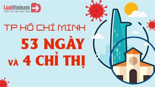 Infographic: TP. Hồ Chí Minh - 53 ngày và 4 Chỉ thị