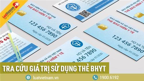Tra cứu giá trị sử dụng thẻ BHYT đơn giản nhờ 3 cách sau